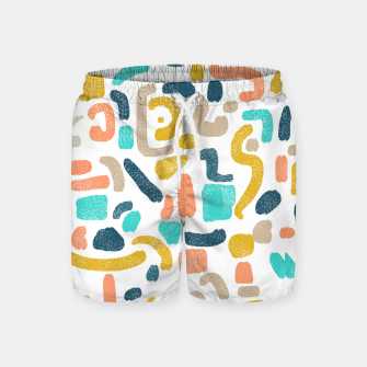 Thumbnail image of Alphabet Soup Swim Shorts, Live Heroes