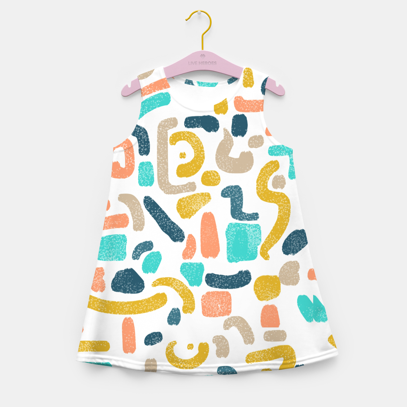 Image of Alphabet Soup Girl's summer dress - Live Heroes
