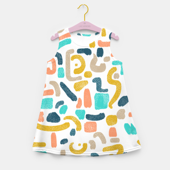Miniatur Alphabet Soup Girl's summer dress, Live Heroes