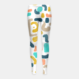 Thumbnail image of Alphabet Soup Girl's leggings, Live Heroes
