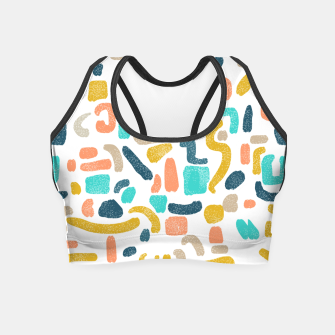 Miniatur Alphabet Soup Crop Top, Live Heroes