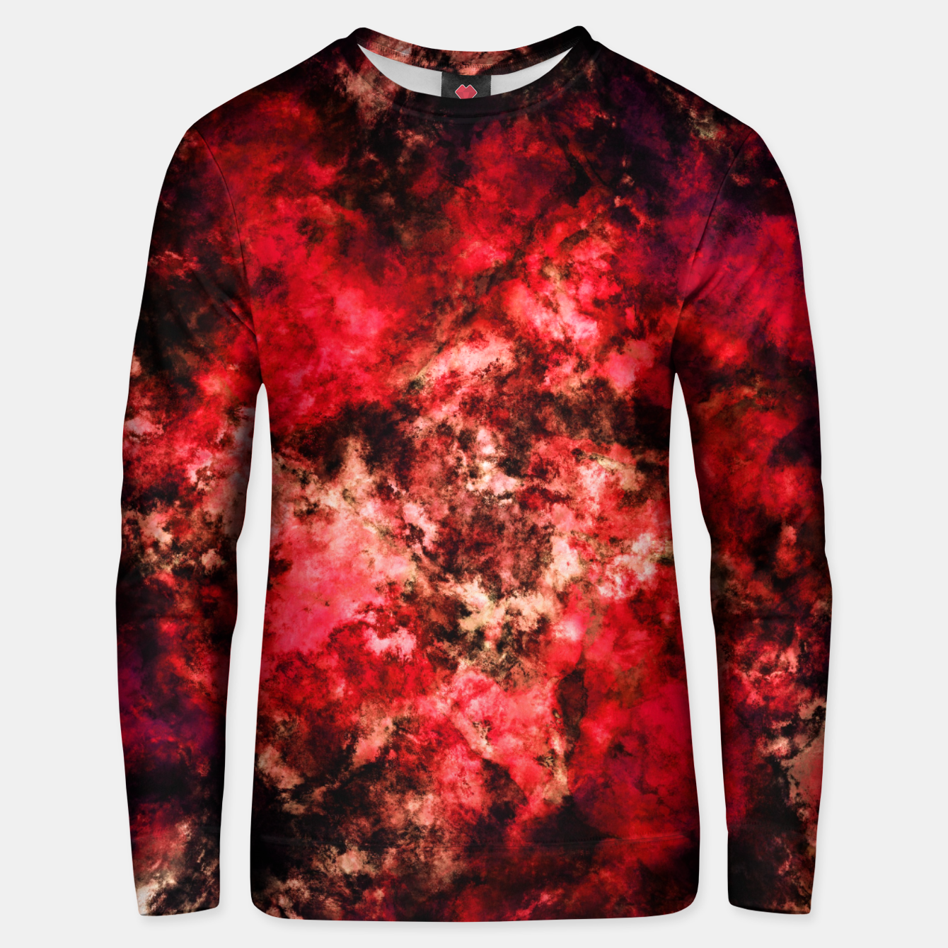 Image of Red burst Unisex sweater - Live Heroes