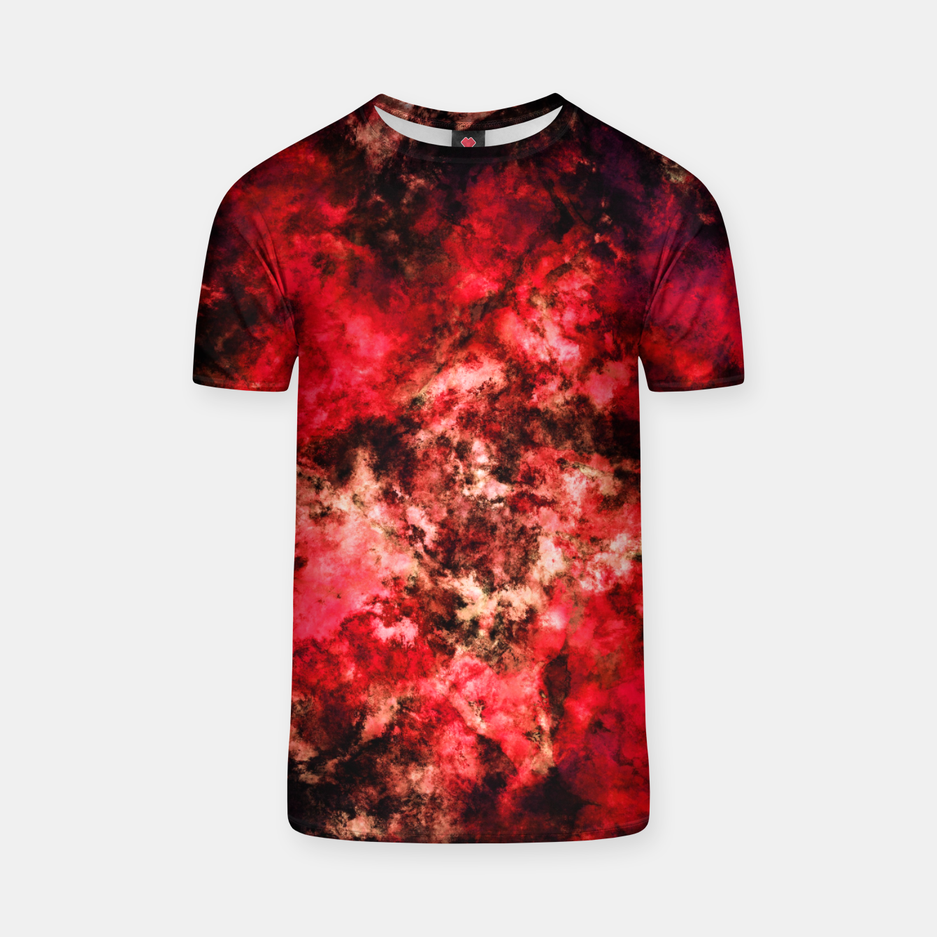 Image of Red burst T-shirt - Live Heroes