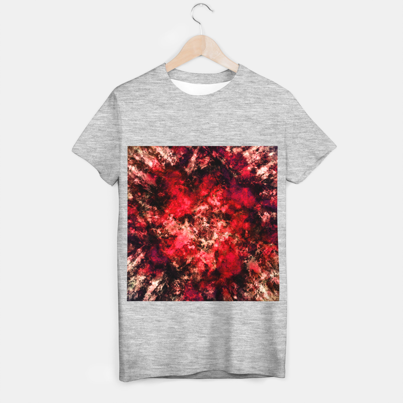Image of Red burst T-shirt regular - Live Heroes