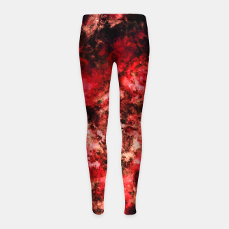 Red burst Girl's leggings thumbnail image