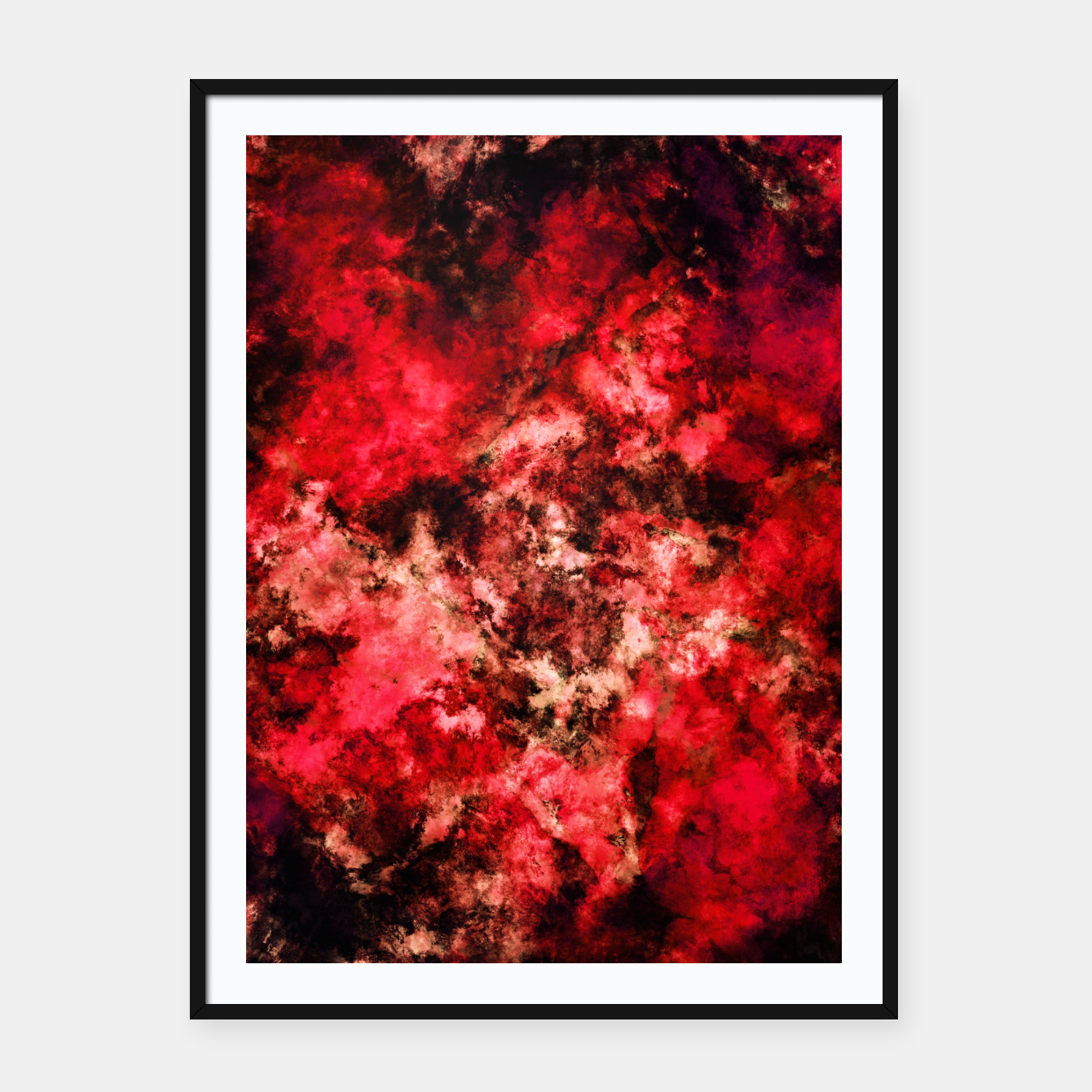 Image of Red burst Framed poster - Live Heroes