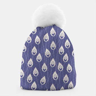 Elegant Purple Leaves Pattern Design Beanie thumbnail image