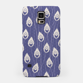 Elegant Purple Leaves Pattern Design Samsung Case thumbnail image