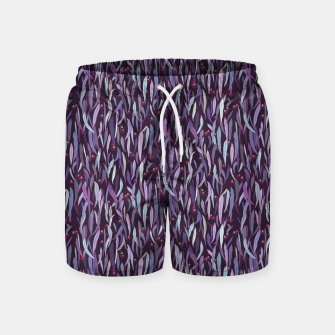 Thumbnail image of Midnight in the Eucalyptus Grove Swim Shorts, Live Heroes