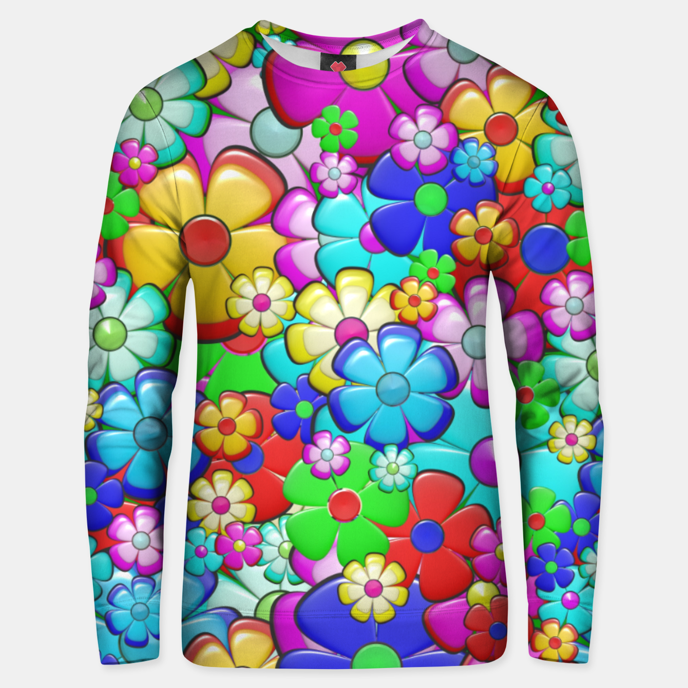 Image of Floral Unisex sweater - Live Heroes