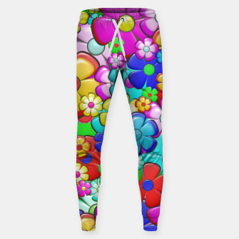 Thumbnail image of Floral Sweatpants, Live Heroes