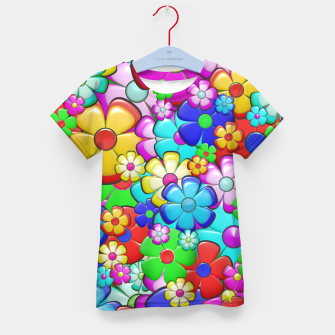 Thumbnail image of Floral Kid's t-shirt, Live Heroes