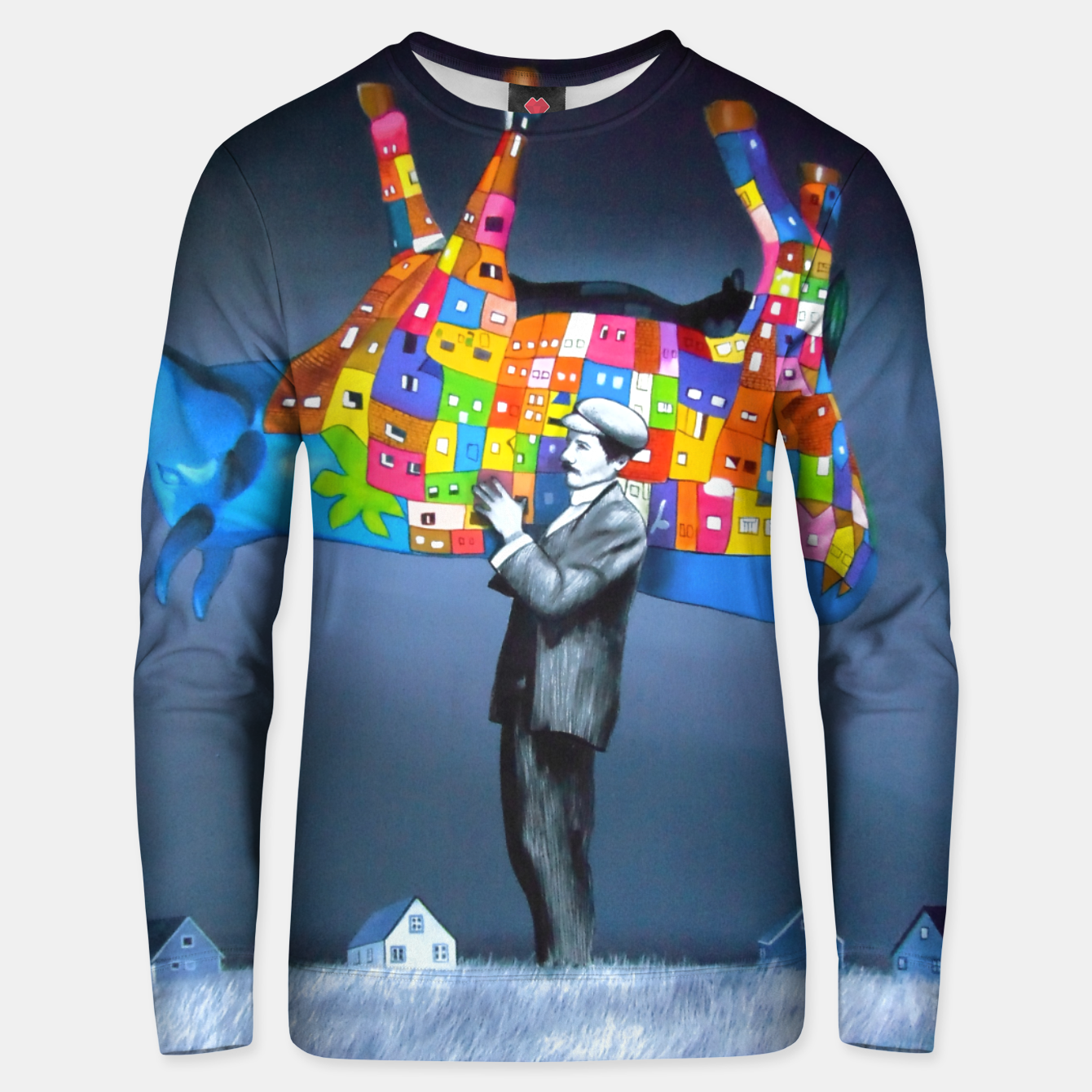 Image of Cow parade Bluza unisex - Live Heroes