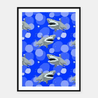 Miniatur Jaws Framed poster, Live Heroes