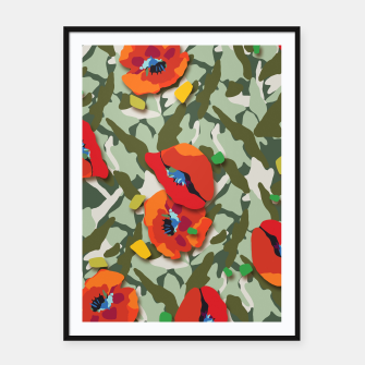 Thumbnail image of Camo Framed poster, Live Heroes