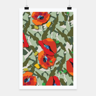 Thumbnail image of Camo Poster, Live Heroes