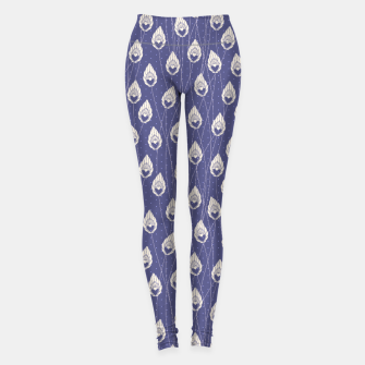 Elegant Purple Leaves Pattern Design Leggings thumbnail image