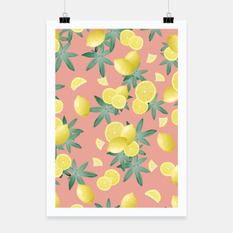Thumbnail image of Lemon Twist Vibes #2 #tropical #fruit #decor #art  Plakat, Live Heroes
