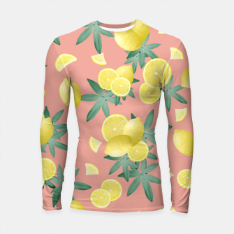 Thumbnail image of Lemon Twist Vibes #2 #tropical #fruit #decor #art  Longsleeve rashguard, Live Heroes
