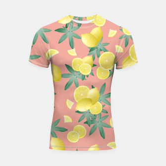 Thumbnail image of Lemon Twist Vibes #2 #tropical #fruit #decor #art  Shortsleeve rashguard, Live Heroes