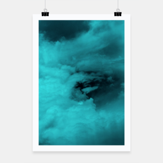 Thumbnail image of Turquoise clouds Plakat, Live Heroes