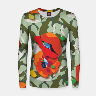 Thumbnail image of Camo Women sweater, Live Heroes