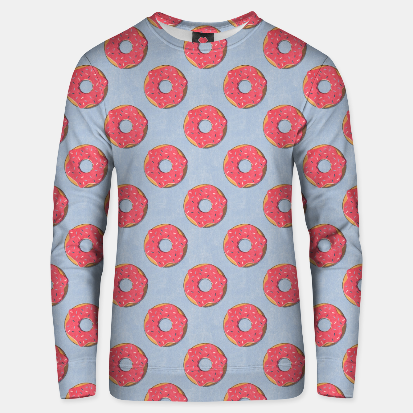 Image of FAST FOOD / Donut - pattern Unisex sweater - Live Heroes