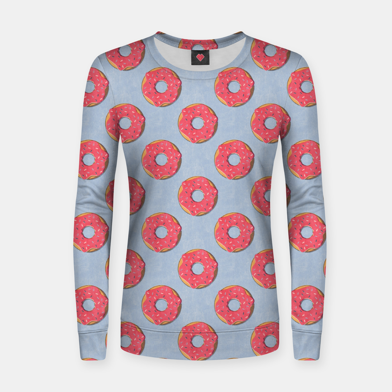 Image of FAST FOOD / Donut - pattern Women sweater - Live Heroes