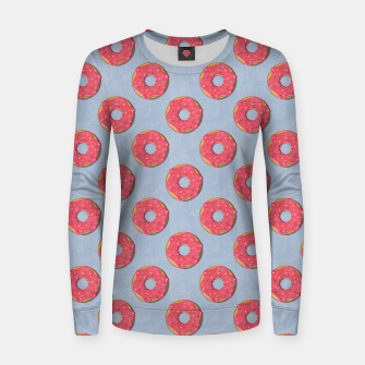 Thumbnail image of FAST FOOD / Donut - pattern Women sweater, Live Heroes