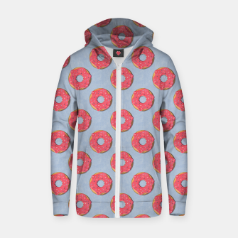 FAST FOOD / Donut - pattern Zip up hoodie thumbnail image