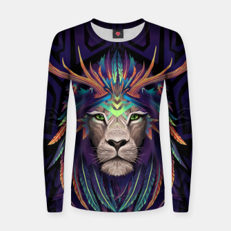 Thumbnail image of Deer Lion Women sweater, Live Heroes