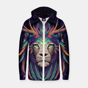 Thumbnail image of Deer Lion Zip up hoodie, Live Heroes