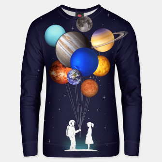 Miniaturka Love is in the space Unisex sweater, Live Heroes