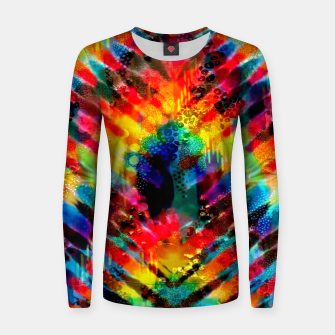 Astral Rainbow Tie Dye Women sweater Bild der Miniatur