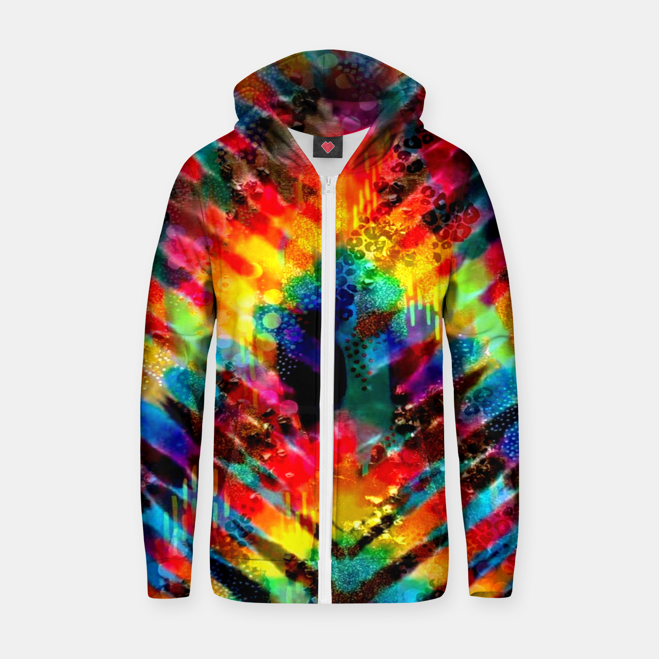 Foto Astral Rainbow Tie Dye Zip up hoodie - Live Heroes