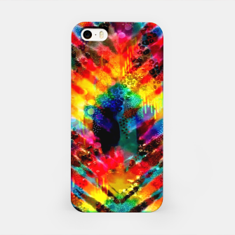 Miniatur Astral Rainbow Tie Dye iPhone Case, Live Heroes