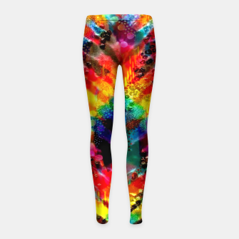 Astral Rainbow Tie Dye Girl's leggings Bild der Miniatur