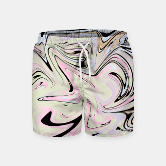 Miniatur Marble Colorful Pattern  Swim Shorts, Live Heroes