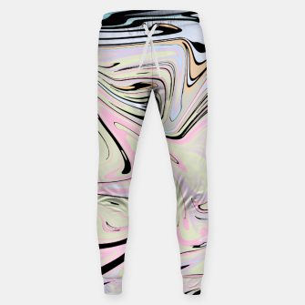 Miniatur Marble Colorful Pattern  Sweatpants, Live Heroes