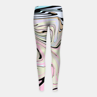 Miniatur Marble Colorful Pattern  Girl's leggings, Live Heroes