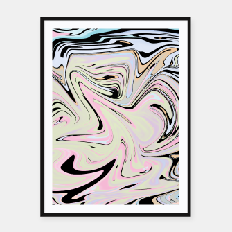 Miniatur Marble Colorful Pattern  Framed poster, Live Heroes