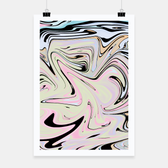 Miniatur Marble Colorful Pattern  Poster, Live Heroes