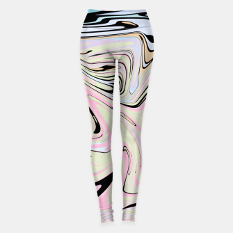 Miniatur Marble Colorful Pattern  Leggings, Live Heroes