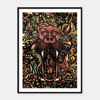 Thumbnail image of Creatures Framed poster, Live Heroes