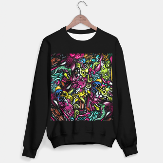 Doodle Pattern Strong Sweater regular imagen en miniatura