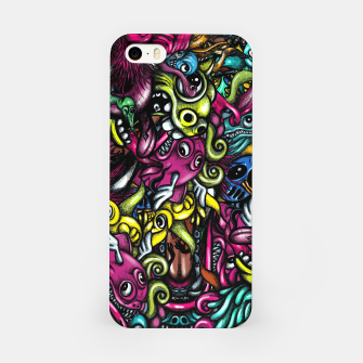 Doodle Pattern Strong iPhone Case imagen en miniatura