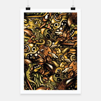 Miniatur Doodle Pattern  Poster, Live Heroes