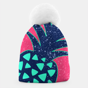 Thumbnail image of Vibrant Tropical Pineapple Design Beanie, Live Heroes