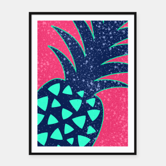 Thumbnail image of Vibrant Tropical Pineapple Design Framed poster, Live Heroes