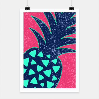 Thumbnail image of Vibrant Tropical Pineapple Design Poster, Live Heroes